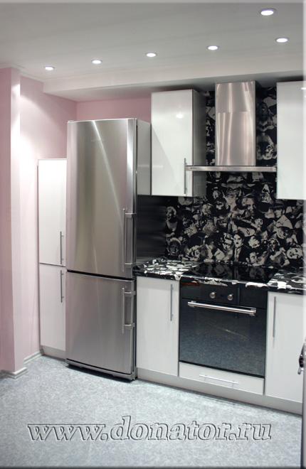 305 кухня белая глянцевая фасад мдф