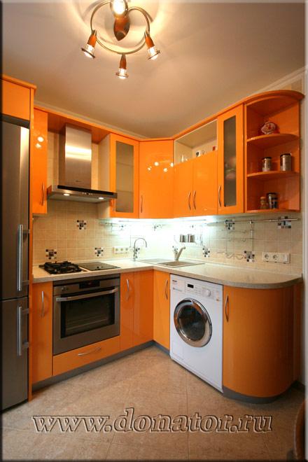 Дизайн кухни 6 кв метров со стиральной машиной