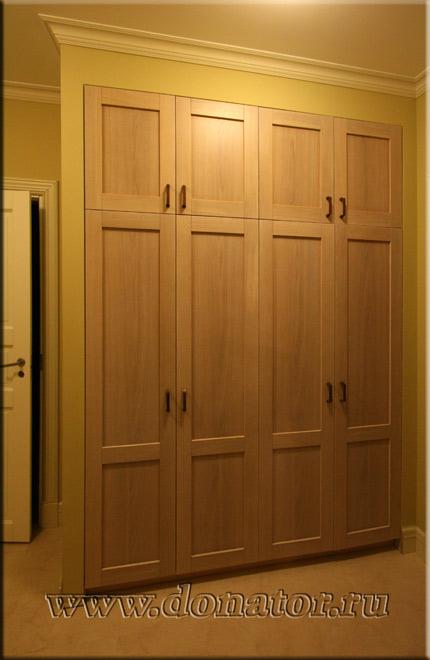 """1526) шкаф, цвет """"беленый"""", фасады массив дуба комбинированн."""