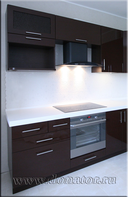 кухни коричневый пластик фото
