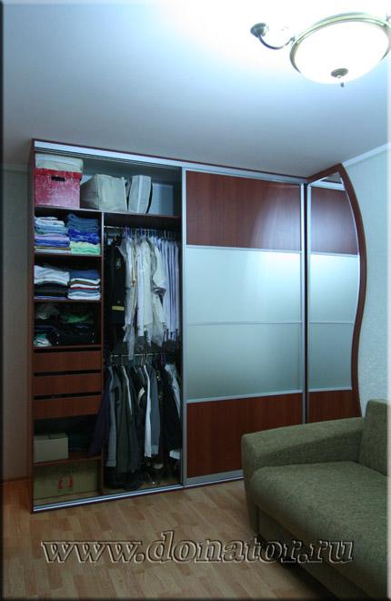"571) шкаф-купе, ""версаль"", цвет ""вишня виктори"", зеркало ""са."