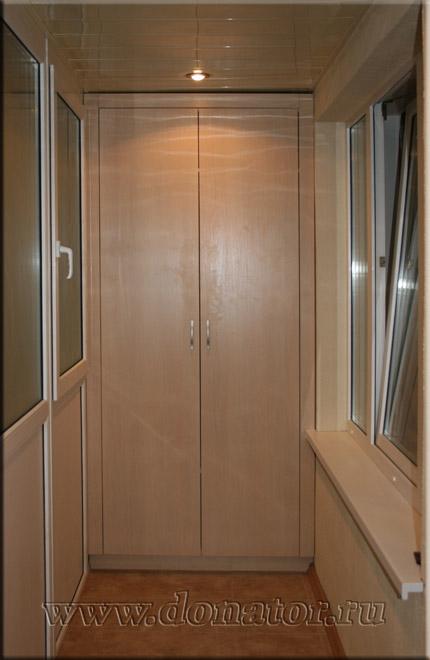 "1513) шкаф на балкон, цвет ""дуб кремона"" :: донатор."